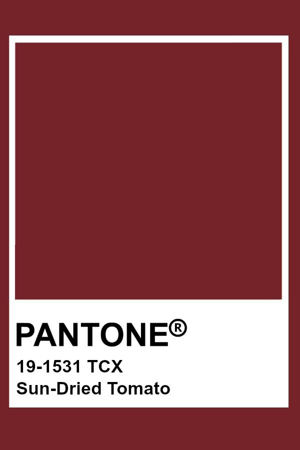 Pantone Sun Dried Tomato In 2020 Pantone Red Pantone