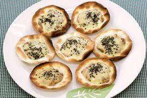 餃子の皮で作る納豆ピザ