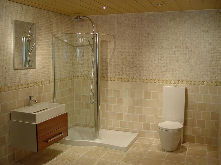 15 Impressive Bathroom Color Ideas To Freshen Up Your Old Bathroom    Interesting Bathroom Colors Idea With Light Brown Tiles Wall And Floor Idea  And Mosaic ...