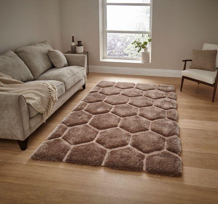 "NOBLE HOUSE NH30782 BEIGE shag pile rug 150X 230cm (4ft'9x7ft 5"")-modern rug"