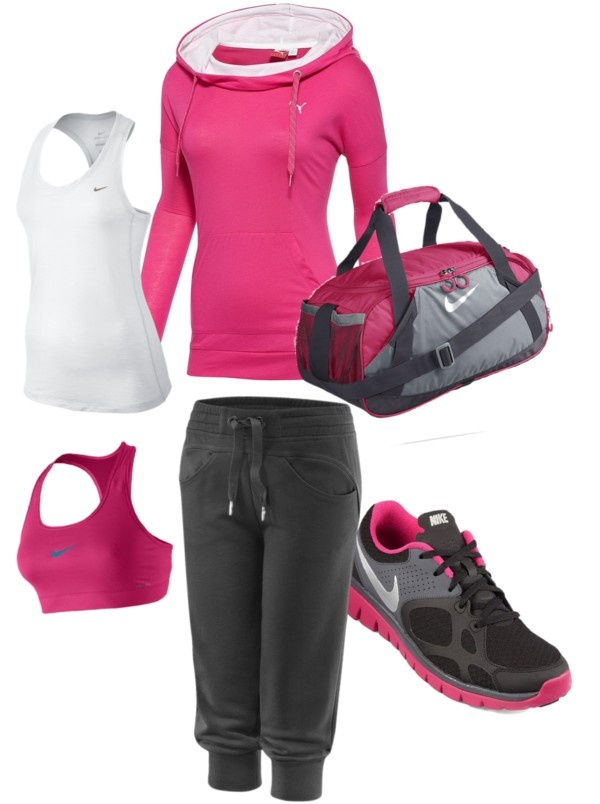 U0026quot;Gym outfitu0026quot; by kellym-field on Polyvore I love Kellyu0026#39;s slightly futuristic gym look-- check out ...