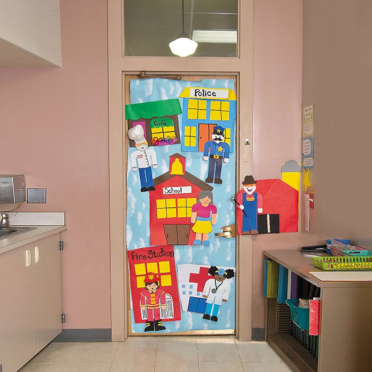 Art Decoration Ideas For Classroom ~ Community helpers door decoration idea orientaltrading