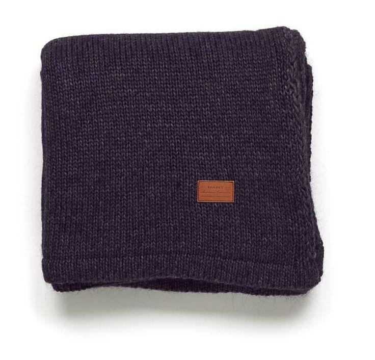 Gant Solid Knit Decke 150 x 200 cm violette