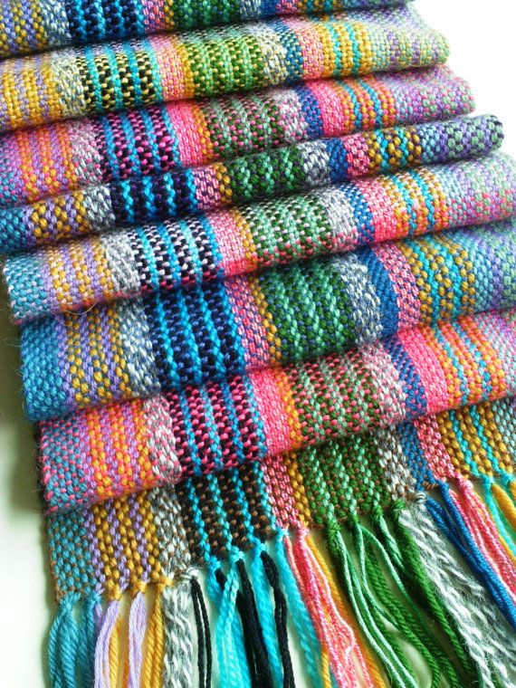 Gorgeous Hand Woven Scarf - Woven Scarf - Multicoloured - Long - Ready to Ship - UK Seller on Etsy, $98.60