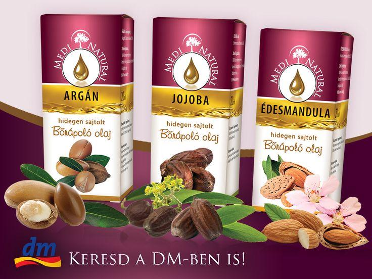 Figyelem, mostantól a DM üzletek polcain is megtalálhatod a MediNatural hidegen sajtolt bőrápoló olajait! **** Mostantól több mint 250 Drogerie Markt boltban is találkozhatsz 3 csodálatos, 100%-ban természetes MediNatural hidegen sajtolt bőrápoló olajjal!   Ezeknek a természetes bőrápoló olajoknak a különlegessége abban rejlik, hogy tetőtől talpig minden testrészünk előnyére válik!   A teljes termékpalettánk megtekinthető a Webáruházunkban KATT A LINKRE…