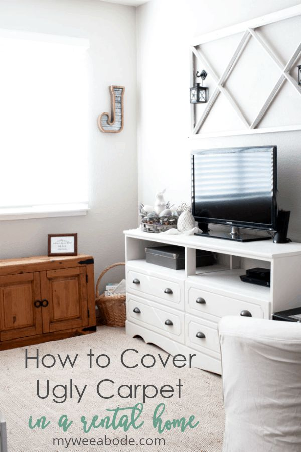 How To Cover Ugly Carpet Rug Reveal Thursday Favorite