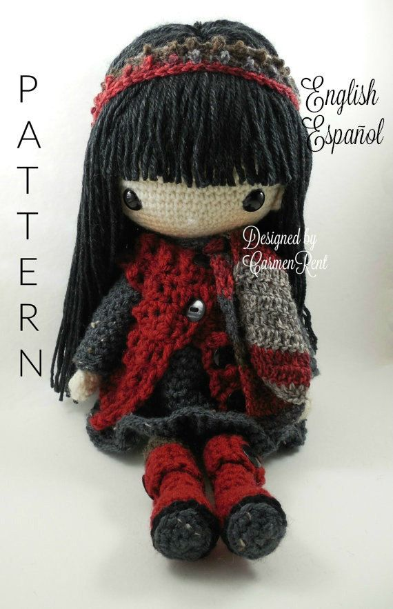 ATTENTION - Keep in mind that this is a crochet pattern in a PDF. This is NOT the finished product. Tania is approximately 17 inches tall. Also, please keep in mind that this doll cannot stand up on its own. This is a non-refundable purchase. Once the payment has been confirmed you will be allowed to download the pattern in a PDF. The language in the pattern is in English only. The pattern includes all of the yarn colors I used for the doll, however, you are free to experiment and use…