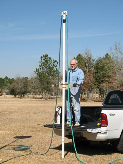 How to Drill Your Own Water Well  DIY low cost well drilling using water via a hose, a PVC pipe and not much else.