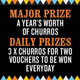 Spending time with friends and family makes us happy! Throw chocolate in the mix too and you've got a recipe for true happiness.   For your chance to WIN a Year's Worth of Churros (valued at over $3,266) or 1 of 84 Churros For Two vouchers (valued at $14.95 each), tell us in 25 words or less what makes you happiest!   You and your amigo could be enjoying churros and sharing more of the good times at San Churro together. There's never been a better excuse to get together and be happy!   ...