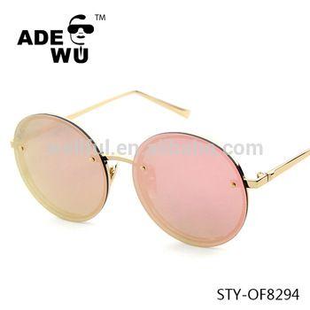 ADE WU 2016 newest round metal frame women sunglasses