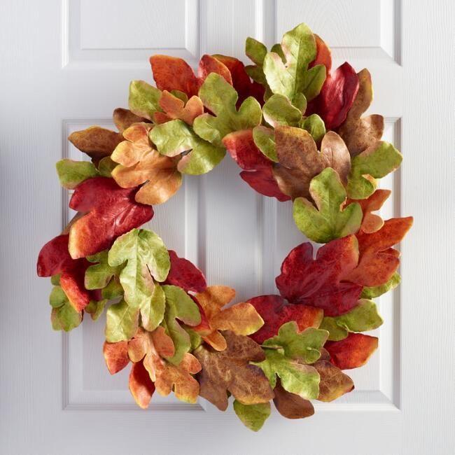 World Market Texas Maple Leaf Wreath