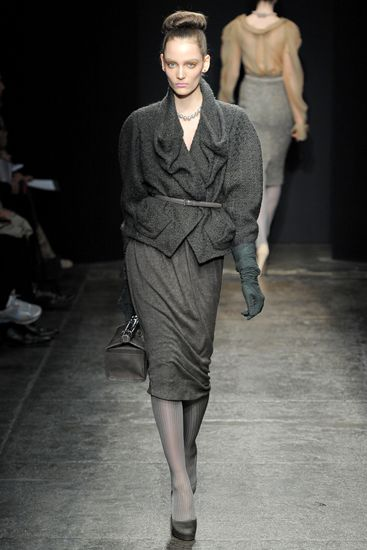Стиль 1940-х в коллекции Donna Karan осень-зима 2011/12