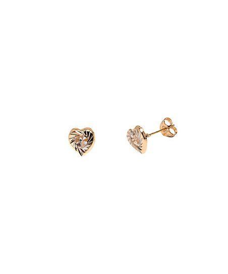 Cubic Zirconia 14k Gold Heart Stud Earrings Zulily