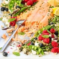 Regal Salmon Fillet Cooked in Verjuice and Honey