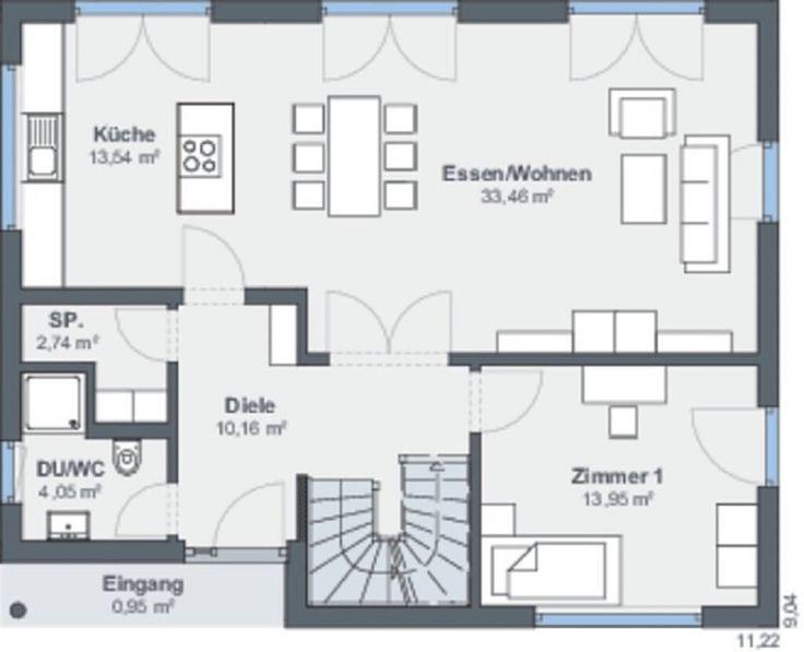 490 best Haus Grundriss images on Pinterest Cottage floor plans - küche mit kochinsel grundriss