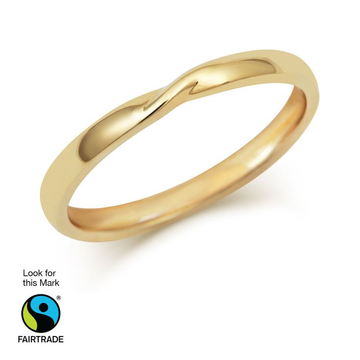 Cred Jewellery Ribbon twist Wedding ring available in 18ct yellow or white…