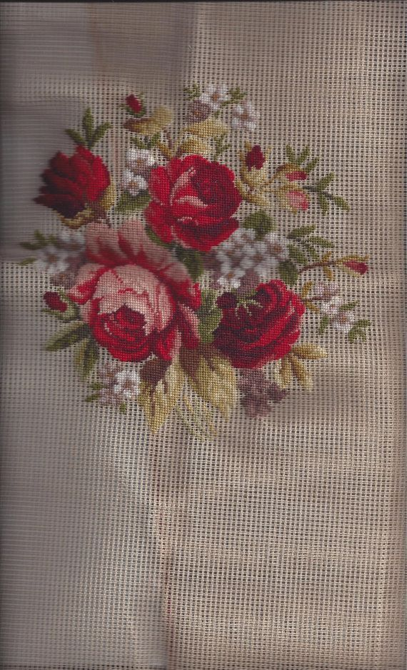 PreWorked Needlepoint Canvas featuring by VictorianWardrobe, $28.99
