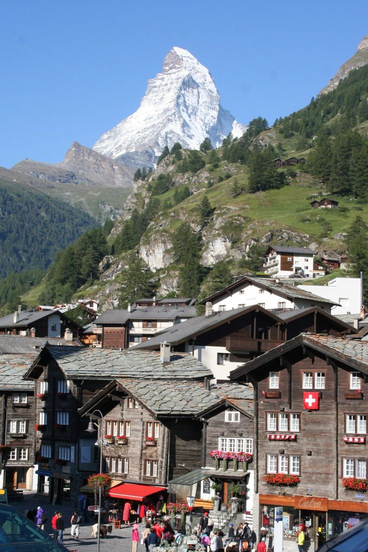 Zermatt, Switzerland...The Matterhorn. Village where mom had her first jag bomb!