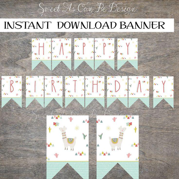 best 25  happy birthday banner printable ideas on