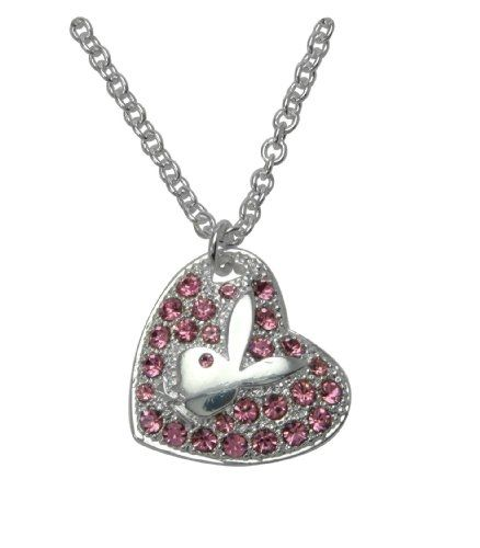 Collar Playboy Heart Pink Stones