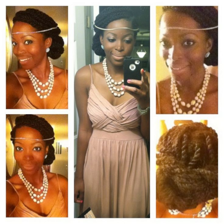 Natural hair style for a wedding!!  /updo / Havana twists/ protective style / Instagram and tumblr @msnaturallymary
