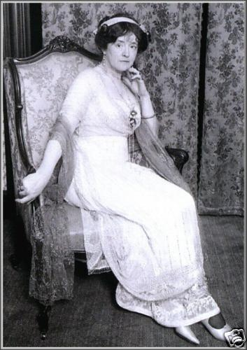 Edwardian couturière and Titanic survivor Lady Duff Gordon, aka Lucile, c. 1912