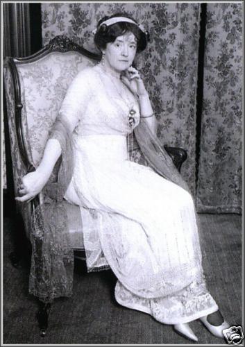 *TITANIC:   Edwardian couturière and Titanic survivor Lady Duff Gordon, aka Lucile, c. 1912