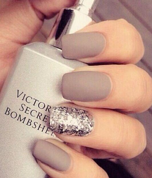 Gorgeous matte beige nail polish