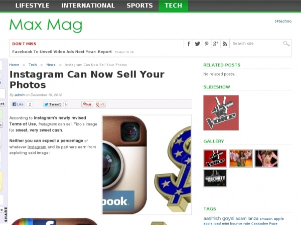 Instagram new terms of services