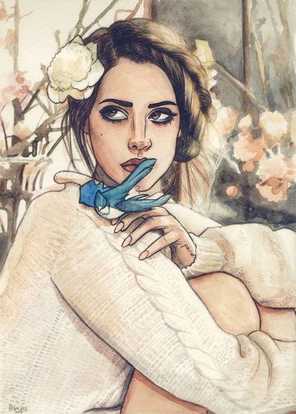 Lana Del Rey art by Helen Green