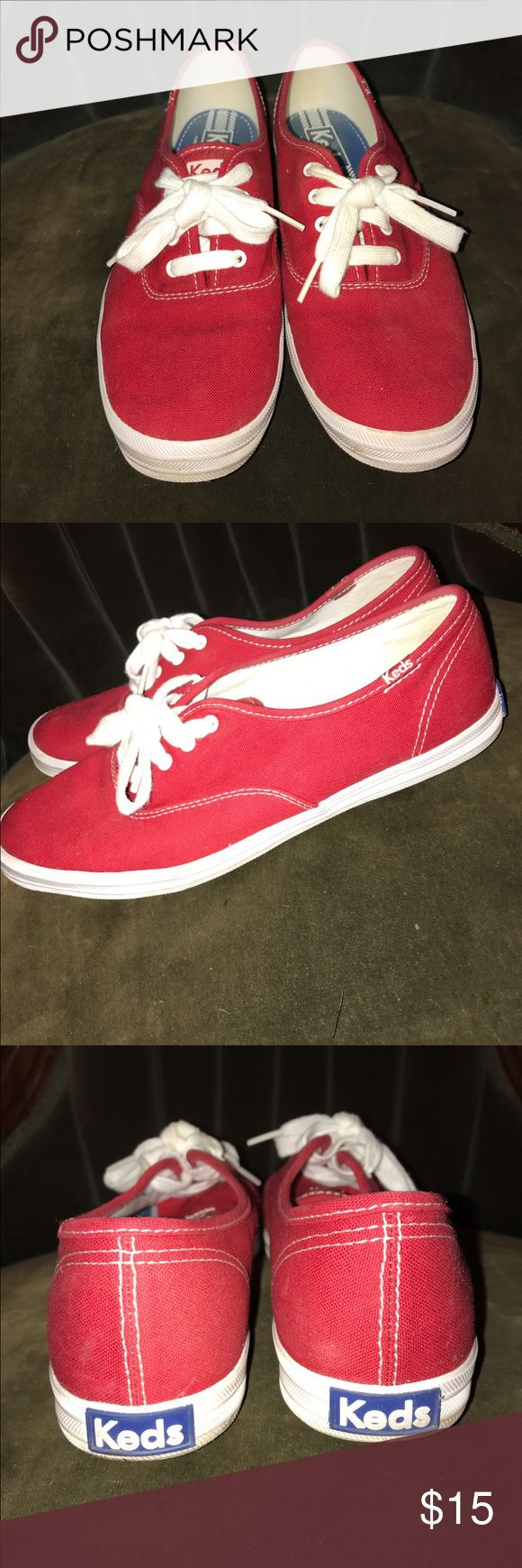 Keds Champion Originals Red with white laces Keds Shoes Sneakers