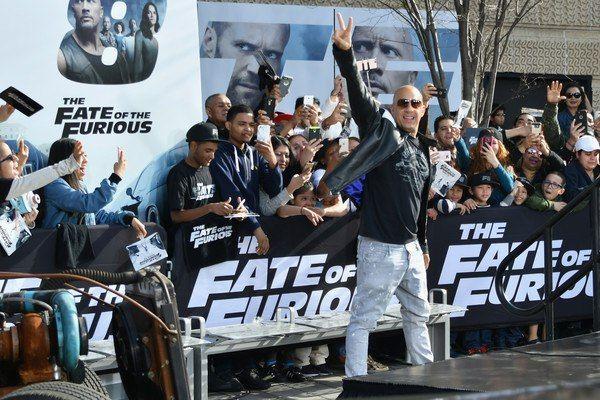 Вин Дизель и Мишель Родригез представили фильм Форсаж 8 в Вашингтоне