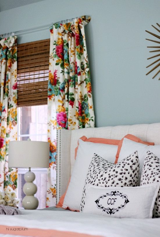 {The Master} Bedroom Reveal (NOTE: Floral Curtains) Part 63