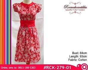Red Batik Dress - Photo