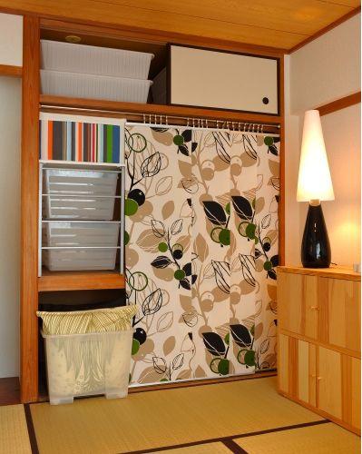 押入れをパネルカーテンでモダンにアレンジ : 【IKEAと暮らそう】IKEAから学ぶ「収納アイディア」の実例集 - NAVER まとめ