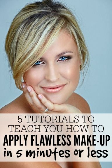 Whether you're a busy business woman, a WAHM, a SAHM, or just plain lazy, these tutorials will teach you how to apply flawless makeup in 5 minutes or less, leaving you time to do more important things. Like repin this on Pinterest!