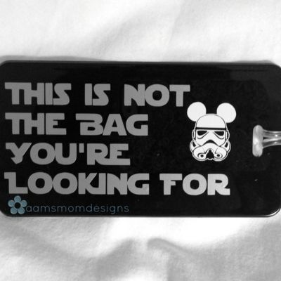 """""""not the luggage you're looking for"""" luggage tag"""