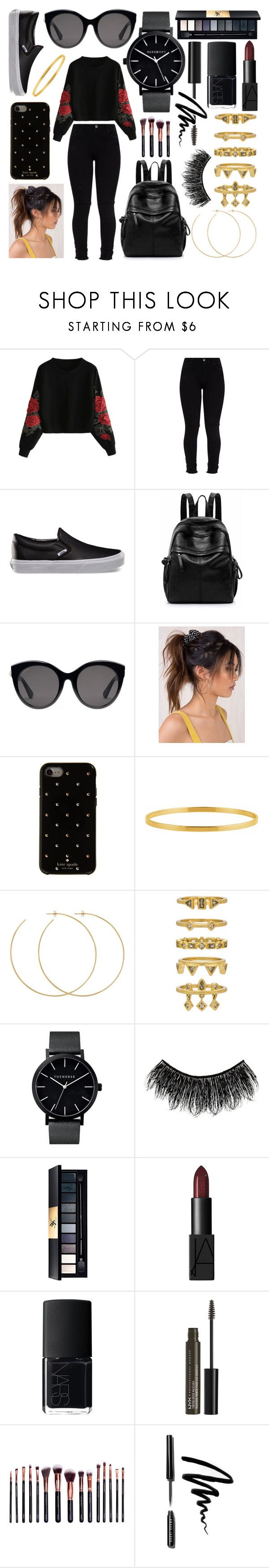 """Black Friday"" by arushipatil ❤ liked on Polyvore featuring Vans, Gucci, Kate Spade, Allison Bryan, Luv Aj, Illamasqua, John Lewis, NARS Cosmetics, NYX and M.O.T.D Cosmetics"