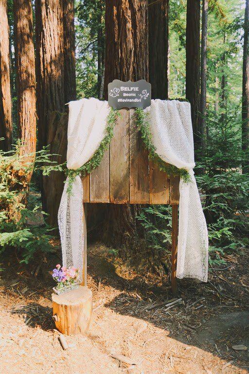 Redwoods Wedding Set Designers Donm Alyssameredith Dougmahergolfs Venue Camp