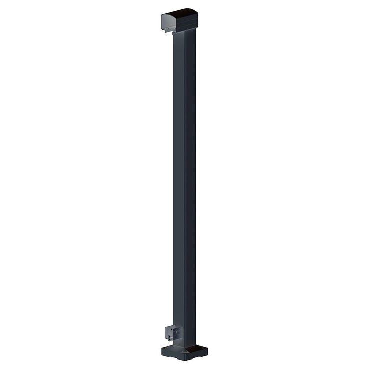 Best Railblazers End Post Black Deck Railing Kits Stair 400 x 300