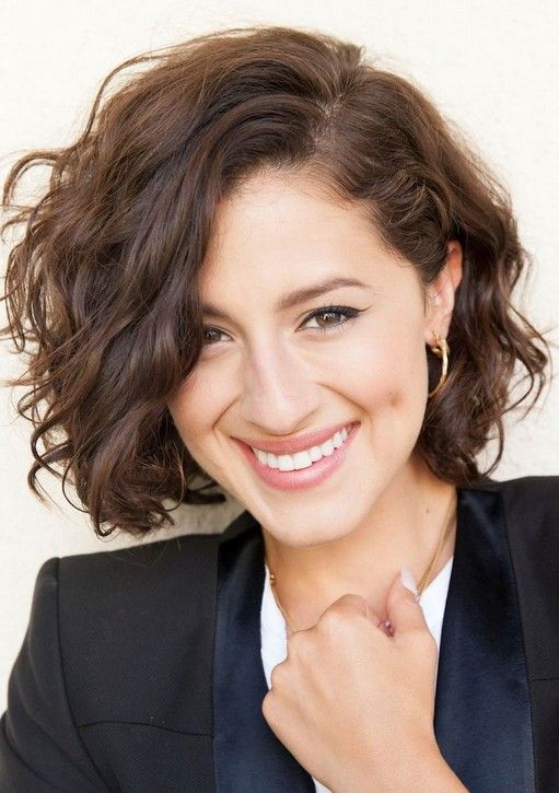 Cute Messy Short Wavy Curly Hairstyle For 2017
