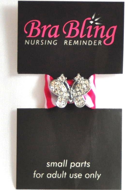 Bijou d'allaitement Bra Bling - s'attache à la bretelle de votre soutien-gorge pour vous rappeler discrètement de quel côté vous avez donné en dernier!