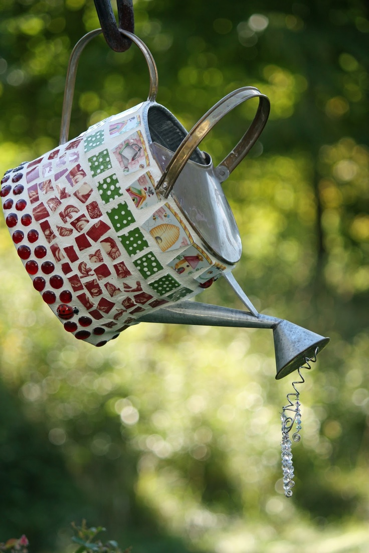 Mosaic Watering Can