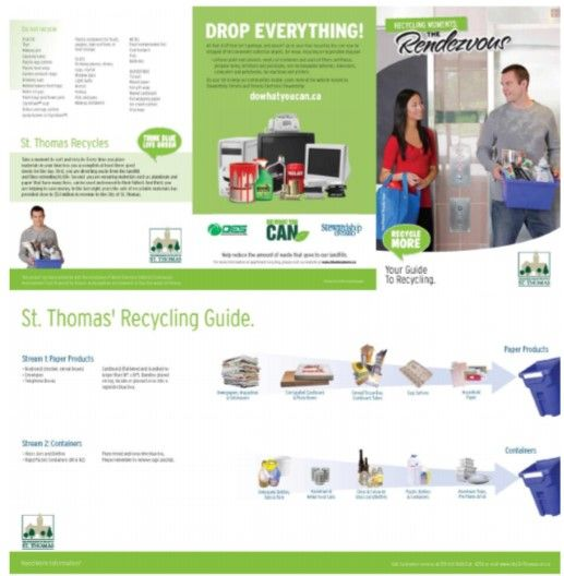 Pin#0014 Recycling guide and proper sorting for multi-residential. (City of St Thomas).