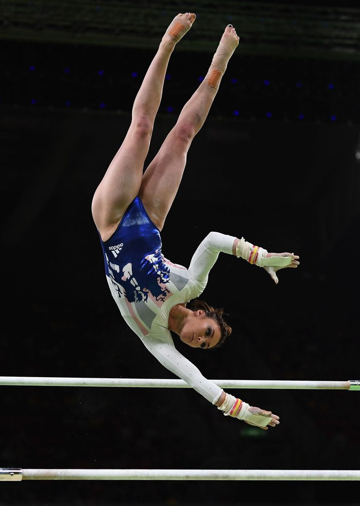 Ruby Harrold of Great Britain in action on the uneven bars during the Artistic Gymnastics Women's Team Final on Day 4 of the Rio 2016 Olympic Games at the Rio Olympic Arena on August 9, 2016 in Rio de Janeiro, Brazil.