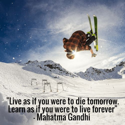 """""""Live as if you were to die tomorrow. Learn as if you were to live forever""""- Mahatma Gandhi [500  500][OC]"""