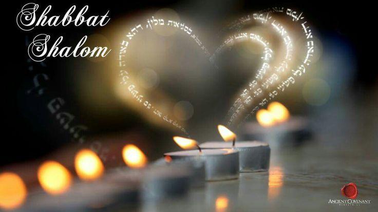 Shabbat Shalom! Hearts and candles.