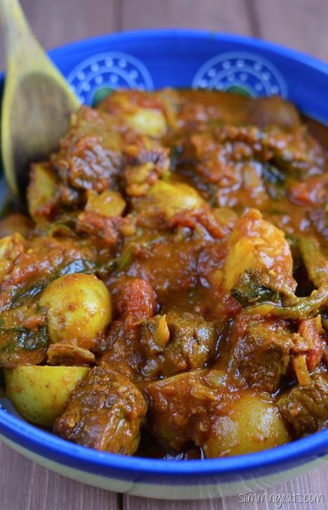 Slimming Eats Beef and Potato Curry - gluten free, dairy free, Whole30, Slimming…