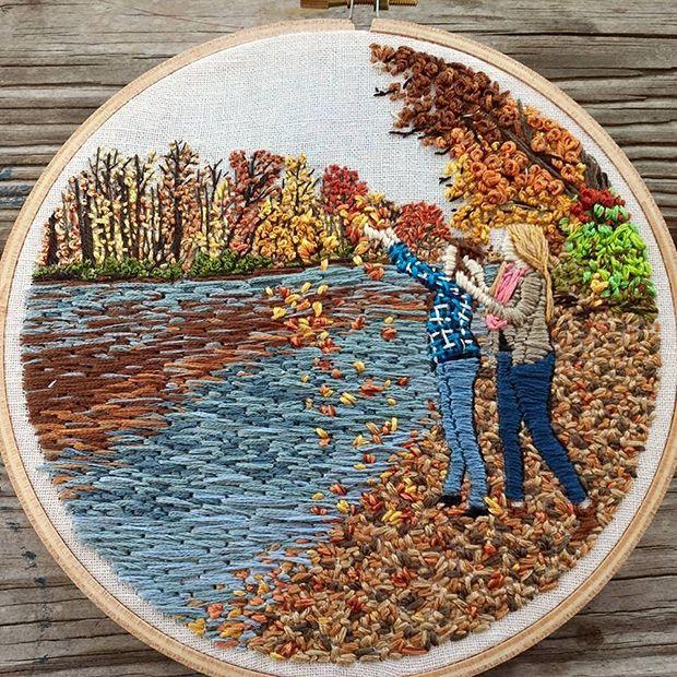bordados LadyJane Longstitches outono