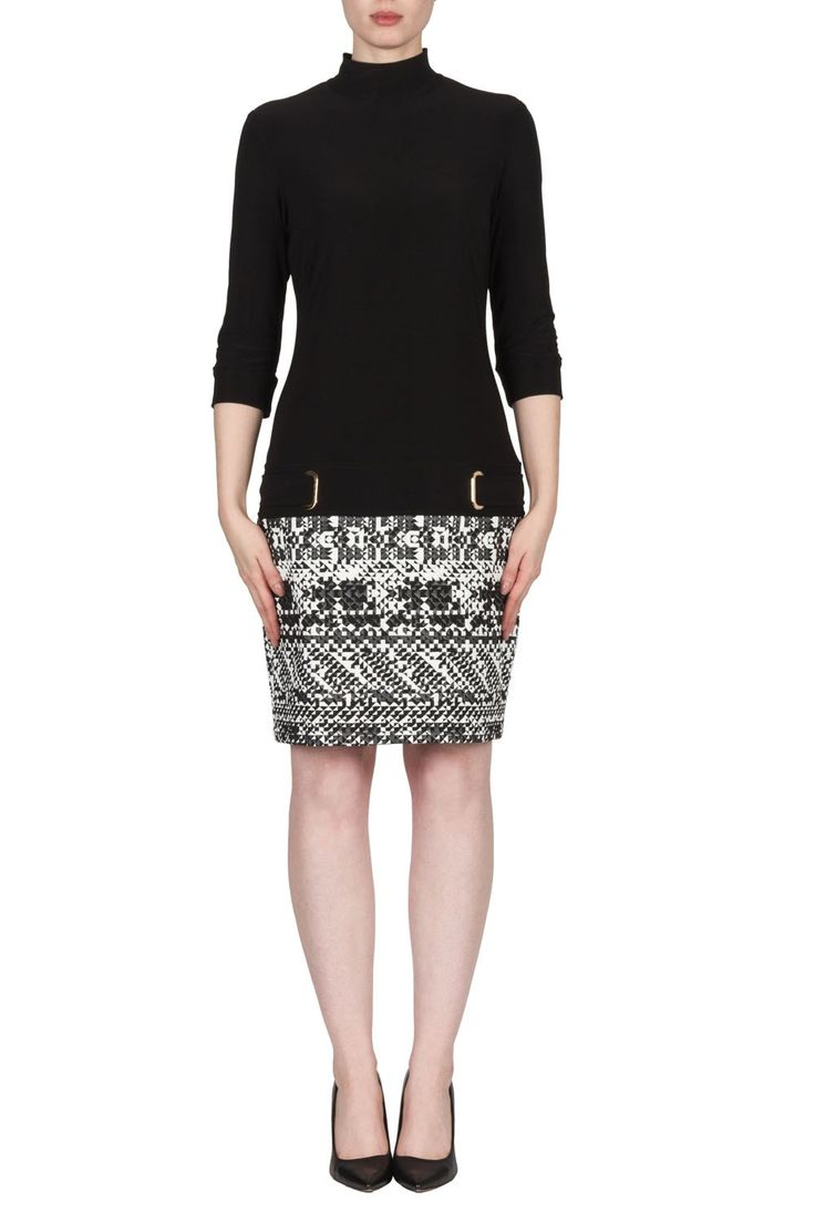 Joseph Ribkoff Black/White Dress Style 173886